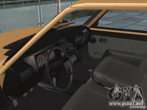 ZAZ Tavria 1103 para GTA San Andreas vista hacia atrás