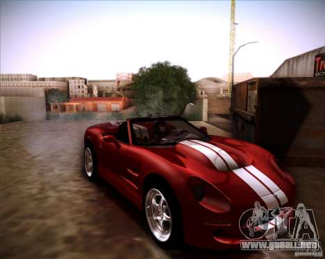 Shelby Series One 1998 para GTA San Andreas vista posterior izquierda