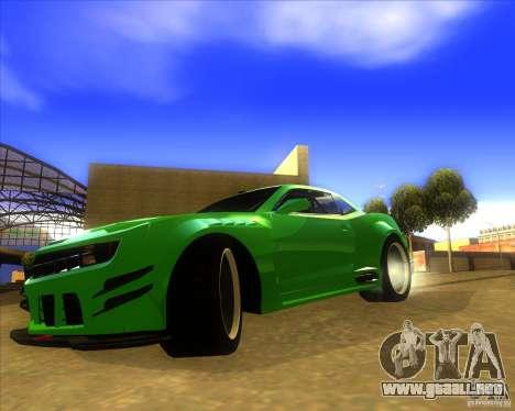 Chevrolet Camaro para la visión correcta GTA San Andreas