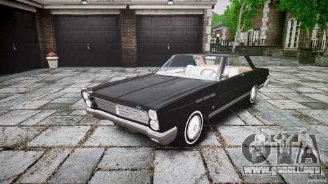 Ford Mercury Comet Caliente Sedan 1965 para GTA 4 vista hacia atrás