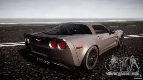 Chevrolet Corvette ZR1 2009 v1.2 para GTA 4 vista superior