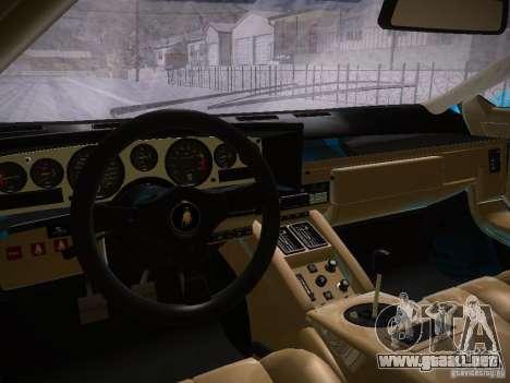 Lamborghini Countach LP5000 para GTA San Andreas vista hacia atrás