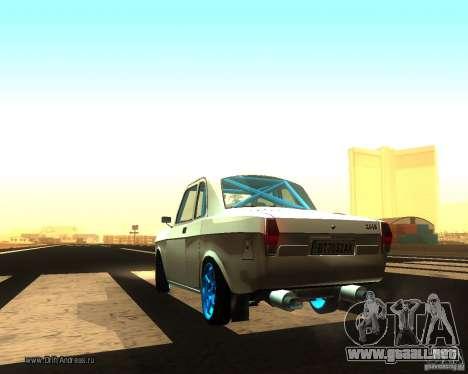 GAZ Volga 2410 Drift edición para GTA San Andreas vista posterior izquierda