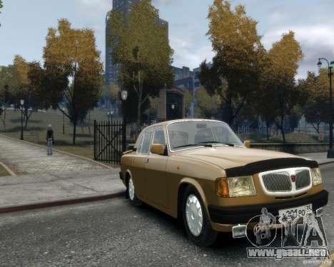 Volga GAZ 3110 para GTA 4 Vista posterior izquierda