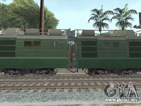 VL80K-548 para GTA San Andreas vista posterior izquierda