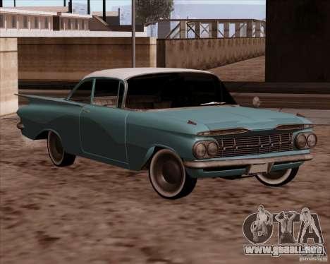 Chevrolet Impala 1959 para la visión correcta GTA San Andreas