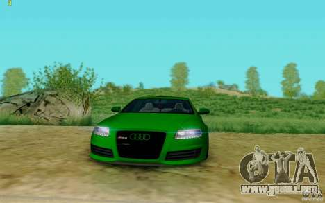 Audi RS6 OTIS para la visión correcta GTA San Andreas