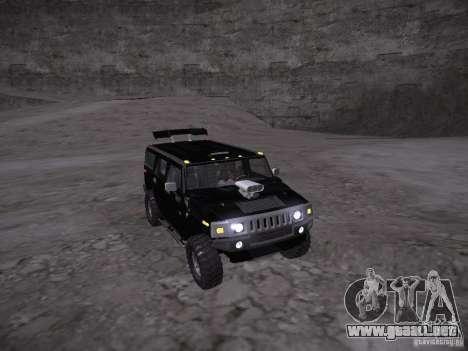 Hummer H2 para vista lateral GTA San Andreas