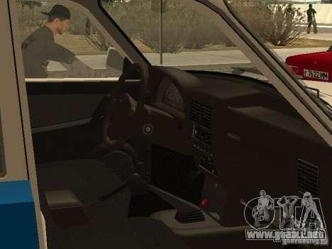 GAZ 3110 policía para la visión correcta GTA San Andreas