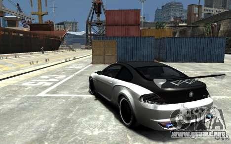 BMW M6 Tuning para GTA 4 Vista posterior izquierda