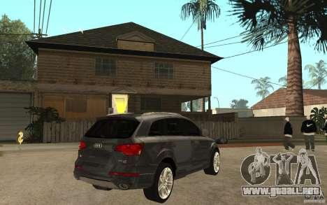Audi Q7 TDI 2009 para la visión correcta GTA San Andreas