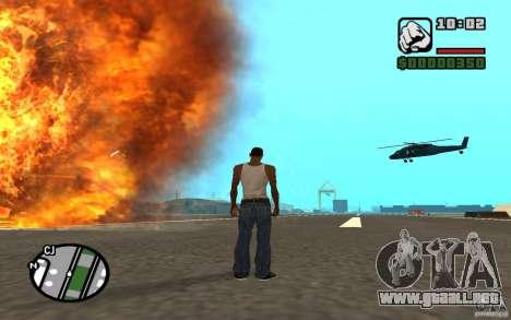Apoyo aéreo cuando ataca. para GTA San Andreas sucesivamente de pantalla