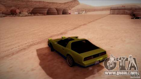 Pontiac Firebird Trans Am para GTA San Andreas left