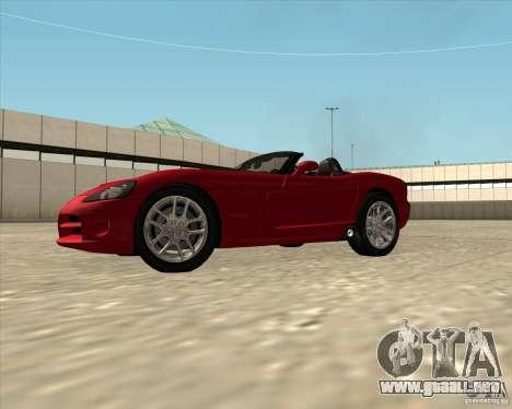 Dodge Viper SRT-10 Roadster para la visión correcta GTA San Andreas