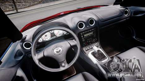 Mazda MX-5 Miata para GTA 4 vista hacia atrás