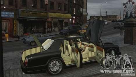 Bentley Arnage T v 2.0 para GTA 4 vista desde abajo