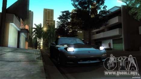 Mazda RX-7 FD 1991 para GTA San Andreas vista hacia atrás