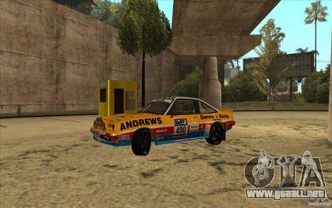 Opel Manta 400 para GTA San Andreas vista hacia atrás