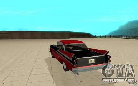 Dodge Lancer 1957 para GTA San Andreas vista posterior izquierda
