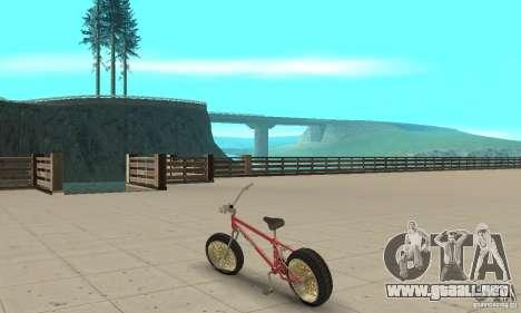 BMX Long 2 para GTA San Andreas vista posterior izquierda