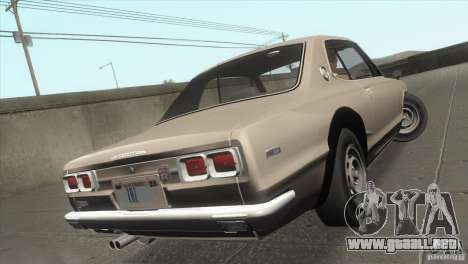 Nissan Skyline 2000 GT-R Coupe para vista inferior GTA San Andreas