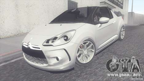 Citroen DS3 Convertible para GTA San Andreas