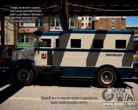 Russian Police Stockade para GTA 4 left