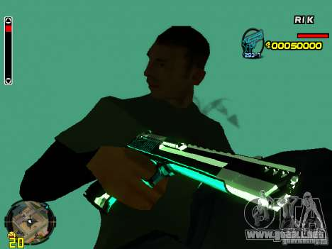 Blue weapons pack para GTA San Andreas quinta pantalla