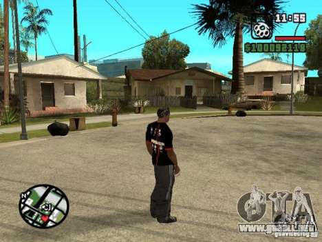 Rammstein camiseta v3 para GTA San Andreas tercera pantalla