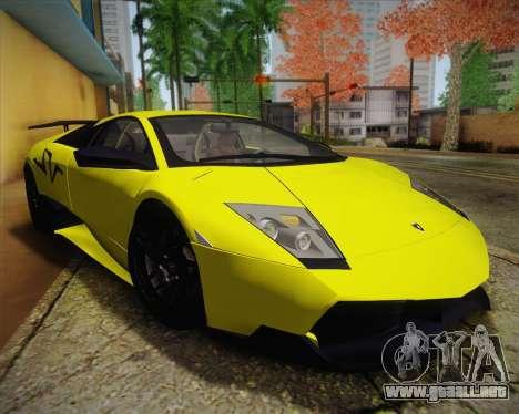 Lamborghini Murcielago LP 670/4 SV Fixed Version para la visión correcta GTA San Andreas