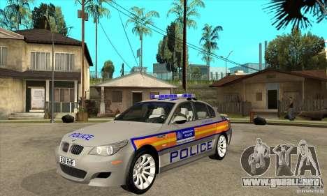 Metropolitan Police BMW 5 Series Saloon para GTA San Andreas