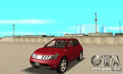 Nissan Murano 2004 para GTA San Andreas
