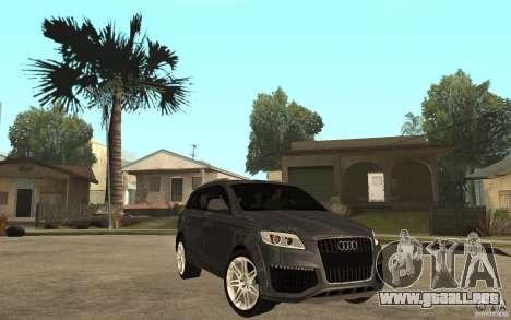 Audi Q7 TDI 2009 para GTA San Andreas vista hacia atrás