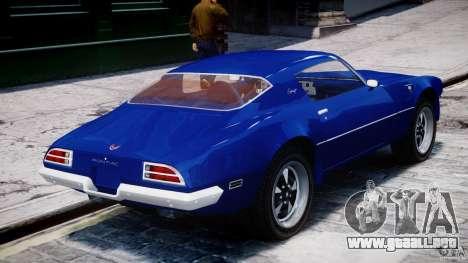 Pontiac Firebird Esprit 1971 para GTA 4 interior