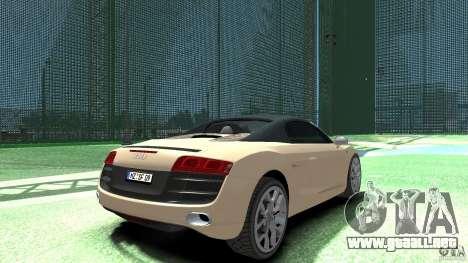 Audi R8 Spyder v10 [EPM] para GTA 4 Vista posterior izquierda