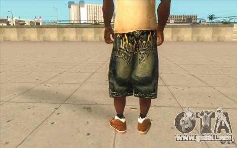 The BIG Makaveli Short Jeans para GTA San Andreas tercera pantalla