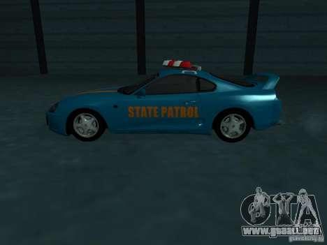 Toyota Supra California State Patrol para la vista superior GTA San Andreas