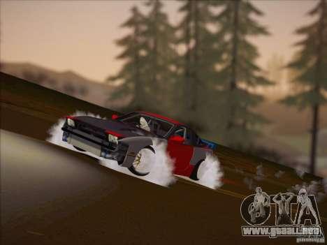 Nissan RPS13 Drift Korch para GTA San Andreas vista posterior izquierda