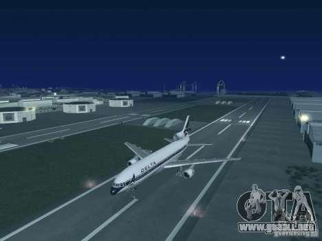 L1011 Tristar Delta Airlines para la visión correcta GTA San Andreas