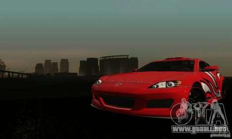 Mazda RX-8 Tuneable para visión interna GTA San Andreas