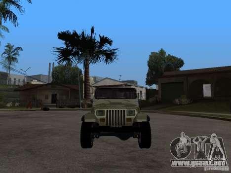 Jeep Wrangler 1986 4.0 Fury v.3.0 para la visión correcta GTA San Andreas