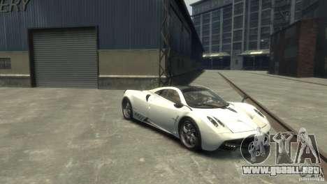 Pagani Huayra para GTA 4 Vista posterior izquierda