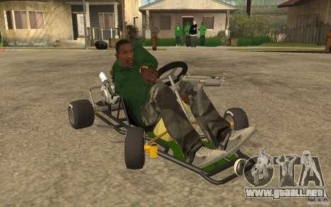 Hayabusa Kart para GTA San Andreas vista hacia atrás