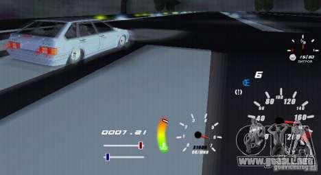 Un velocímetro único para GTA San Andreas sucesivamente de pantalla