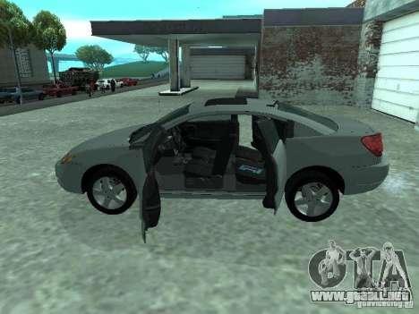 Saturn Ion Quad Coupe 2004 para visión interna GTA San Andreas