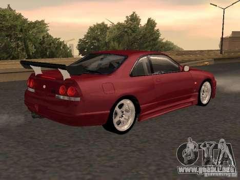 Nissan Skyline GT-R BCNR 33 para GTA San Andreas left