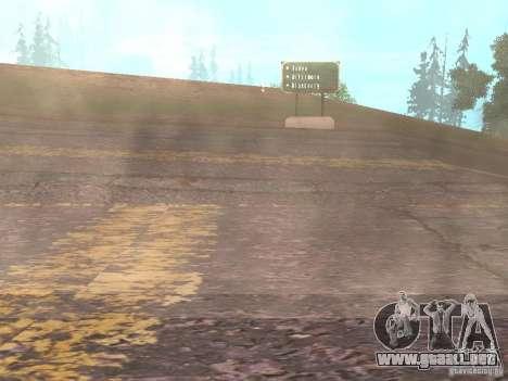 Nuevos caminos en Vajnvude para GTA San Andreas séptima pantalla
