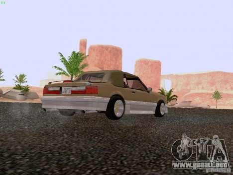 Ford Mustang GT 5.0 Convertible 1987 para la visión correcta GTA San Andreas