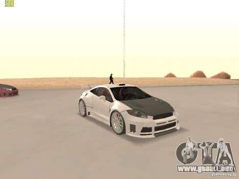 Mitsubishi Eclipse GT NFS-MW para la vista superior GTA San Andreas