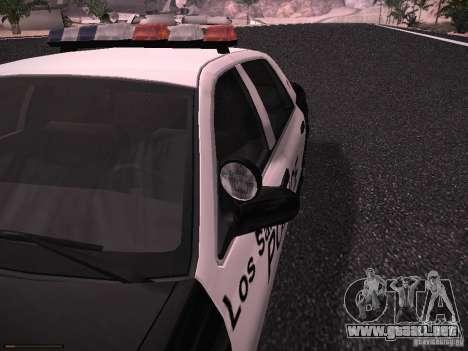 Ford Crown Victoria Police 2003 para GTA San Andreas vista hacia atrás